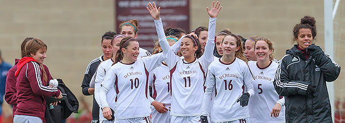 Gee-Gees womens soccer team