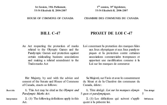 Legal Research – Federal Legislation – The Structure of a Bill