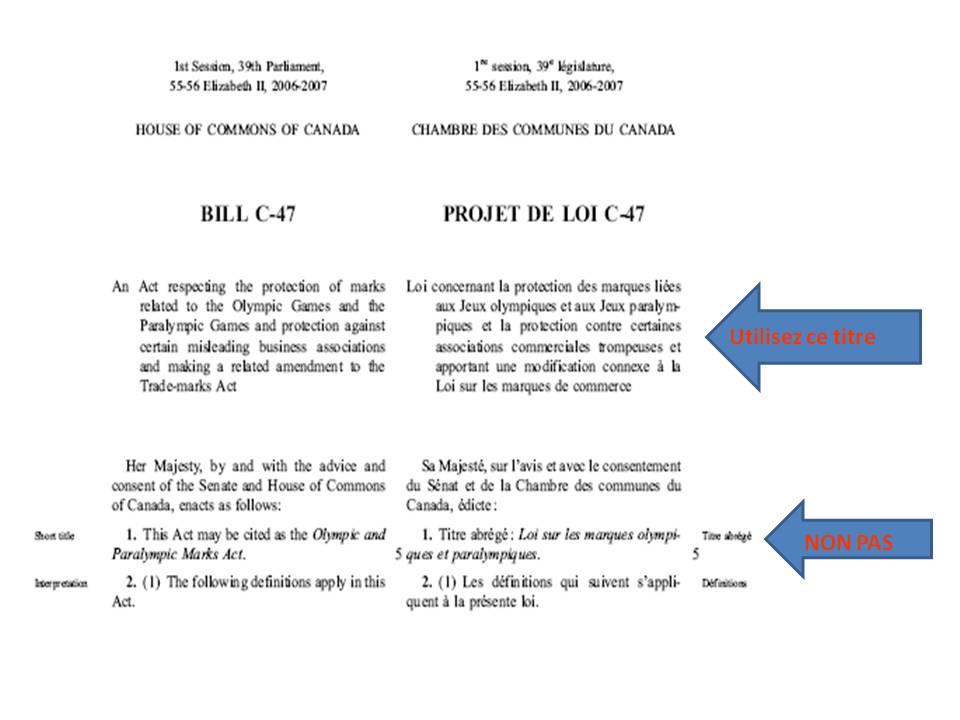 exemple de loi